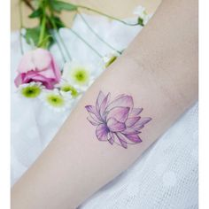 INSTAGRAM: @tattooist_banul lotus tattoo minimal fine line