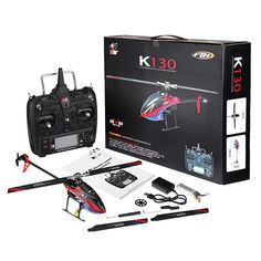 xk k130 2.4g 6ch brushless 3d6g system flybarless rc helicopter rtf compatible with futaba s-fhss Sale - Banggood.com Rc Helicopter, Radio Control, Rc Cars, Hobbies, Helicopters, Vehicles, Boats, January, Aircraft