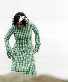 """Bjork in a beautiful 1990s """"La Casita de Wendy"""" dress"""