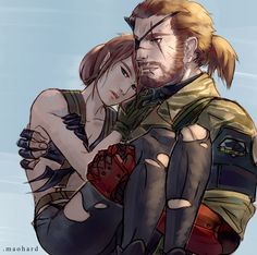 Someone requested me to draw Venom Snake and Quiet together~ I miss those two Diamonds Metal Gear V, Metal Gear Solid Quiet, Snake Metal Gear, Metal Gear Games, Metal Gear Solid Series, Hack And Slash, Mgs V, Dark Souls Art, Gear Art