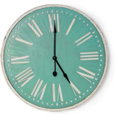 We adore our brand new, lovingly distressed, shabby chic wall clock. Hand painted duck egg blue and white with large gorgeous roman numerals this item is perfec...