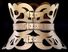 Azzedine Alaia. Belt. Now if only my compression back brace could look like this !!