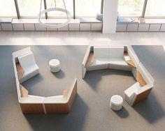 Interior Design HiP Awards Workplace Seating, Lounge, Modular Winner: Qove by OFS Modular Furniture, Home Decor Furniture, Furniture Design, Modular Sofa, Office Furniture, Furniture Ideas, Healthcare Design, Workplace Design, Commercial Design