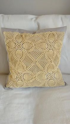 Pillowcase In Spanish Unique Hand Made Pillow Cover  Spanish Vintage Crochet Lace