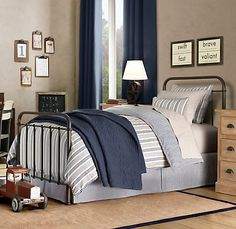 So classic for a shared (or not) boys room.