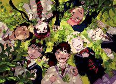 Tags: Bangs, Ao no Exorcist, Okumura Rin, Okumura Yukio, Kamiki Izumo, Miwa Konekomaru, Suguro Ryuji, Shima Renzou, Kuro (Ao no Exorcist), Katou Kazue, Moriyama Shiemi