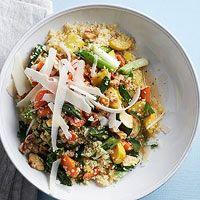 Lime Couscous with Summer Veggies- and also substitute the Couscous with Quinoa