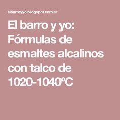 El barro y yo: Fórmulas de esmaltes alcalinos con talco de 1020-1040ºC