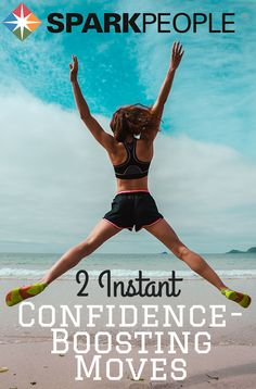 2 Instant Confidence-Boosting Moves Video. This sounds crazy, but I notice I can't help but smile when I do it! | via @SparkPeople #confidence #healthy #moodbooster