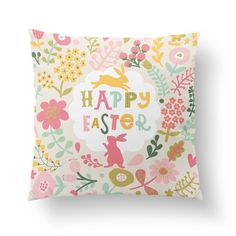 An Easter pillow cover will turn your couch or loveseat into a spring garden! Covers are a smart alternative to actual pillows because they fit on your existing cushions and are easy to store. Just re