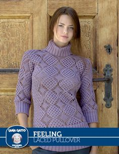 3d59bcc1c11 Long sleeves crochet sweater pattern with collar.