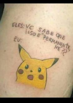 Sao Memes, Pokemon, Pikachu, Bad Tattoos, Funny Times, Diabolik Lovers, Toot, Wtf Funny, Best Memes