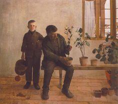 Ferenczy Károly, Kertészek,   1891,   Olaj, vászon, 134,5 x 155 cm   Magyar Nemzeti Galéria, Budapest
