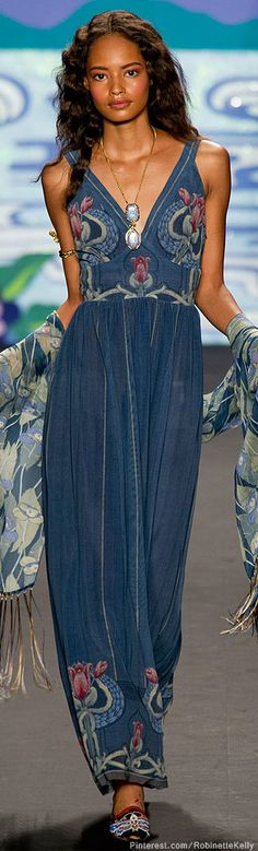 Anna Sui S/S 2014..love maxi dresses they work for any body type..