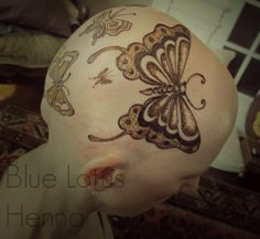 Butterfly henna crown...