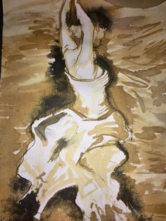 rough ink sketch of a ballet dancer in water. Not my usual medium, but it was a fun experiment