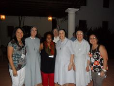 Sisters Lisa Marie, Stella, Jenny and Teresa Celine, with their Lay Canossians on Retreat at Christ the King Retreat Center, Sacramento.