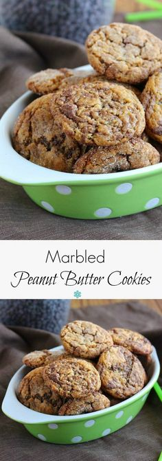 Marbled Peanut Butter Cookies woven with chocolate make these cookies a dream come true. Easy to make with swirls of melted chocolate. A cookie lover's favorite.