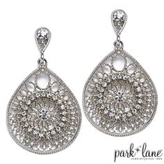 The Delicate pierced earrings go great with a casual look or a dressy outfit. The sparkle from these earrings are just right! A must-have in every woman's jewelry case.