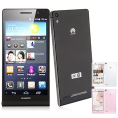 """HUAWEI Ascend P6 4.7"""" HD Screen Android 4.2 Quad-Core Smartphone w/ 6.18mm Ultrathin 8.0MP (2GB + 8GB)- Assorted Color"""