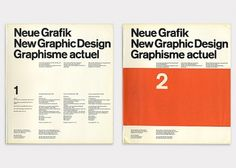 (Left) No.1 Design by Carlo Vivarelli (Right) No.2 Design by Hans Neuburg.Swiss design began to coalesce into a unified international movement when the journal New Graphic Design began publication in 1959, with Vivcarelli as an editor.