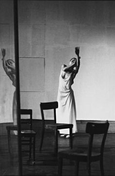 Dance, Pina Bausch at Café Müller around 1970.