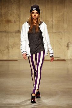 Topshop, Fall 2013 - Cara Delevingne on the Catwalk - Photos