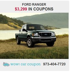 This #FordRanger is the ideal truck that is sure to fit your needs.This Ranger hits the mark in #impressive #performance and luxury. #Coupons #available!! Save Hundreds of Dollars Today with our #coupons! Check it out on www.wowcarcoupon.com!! Don't miss out!! #wowcarcoupon #discountcoupons