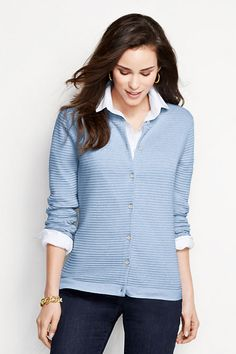 Women's Supima Ottoman Cardigan Sweater from Lands' End