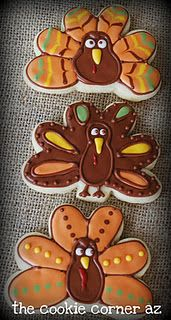cookie corner: Fall is Here Turkey Cookies, Fall Cookies, Cute Cookies, Cupcake Cookies, Sugar Cookies, Cupcakes, Thanksgiving Cookies, Thanksgiving Turkey, Cookie Designs