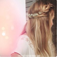 A little bit too boho - but like the plait & straight(ish) hair