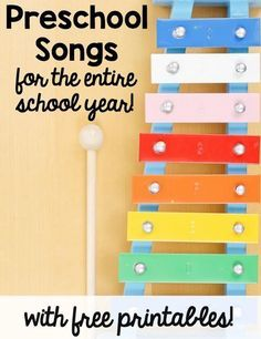 Looking for preschool songs you can print?  Get links to over 60 songs for preschool in this post!