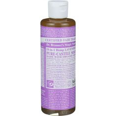 Dr. Bronner's Pure Castile Soap - Fair Trade And Organic - Liquid - 18 In 1 Hemp - Lavender - 8 Oz
