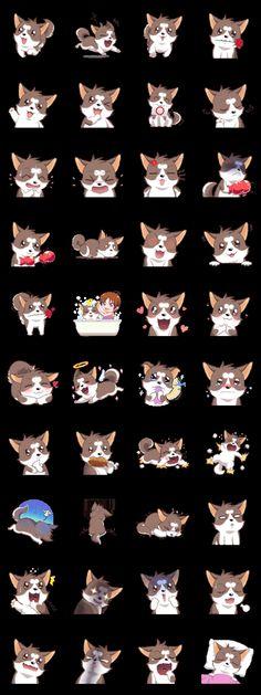 Cocoa Siberian Husky Vol.1 - LINE Creators' Stickers