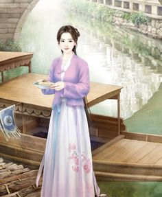 Ancient China Clothing, Chibi Food, Chinese Drawings, Fantasy Paintings, China Art, Illustration Girl, Chinese Painting, Manga Girl, Chinese Style