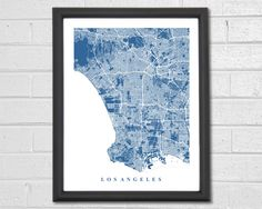Los Angeles Map Art - Map Print - California - Map - Street Map - Los Angeles Map - City Collection by TheMapCollection on Etsy https://www.etsy.com/listing/225521085/los-angeles-map-art-map-print-california