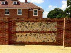 Flint and brick wall