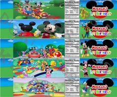 Mickey Mouse Clubhouse Personalized Water Bottle por DigiKidsDesign