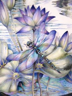 How to paint a dragonfly #dragonfly