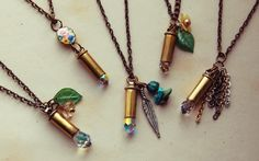 diy: Bullet Shell Necklaces