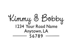 Personalized Custom Made Handle Mounted or Self Inking Return Address stamp Rubber Stamps R282