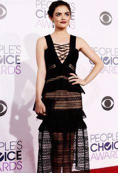 Lucy Hale attends the People's Choice Awards 2016 on January 6, 2016 in Los Angeles, California