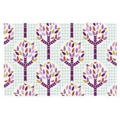 """Pellerina Design """"Orchid Spring Tree"""" Purple Abstract Decorative Door Mat"""