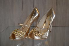 Sandália gold by Guilhermina #goldglam