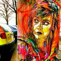 Street art by C215, via Flickr #berlin #stencil #graffiti #street #art