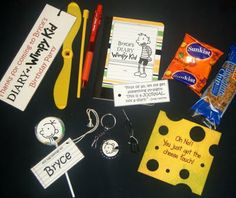 Diary of a Wimpy Kid : Goody Bags Instructions and printable for cheese touch