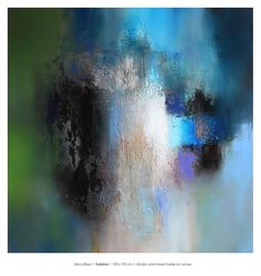 Eelco Maan, Solstice, 100 x 100 cm, mixed media on canvas / Available for purchase at Studio Eelco Maan. Contact me on ejmaan@xs4all.nl