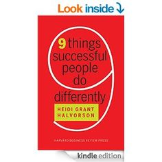 Amazon.com: Nine Things Successful People Do Differently eBook: Heidi Grant Halvorson: Kindle Store