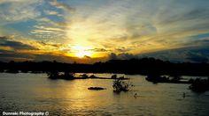 Sunset over the Rio Preto in the Amazon, Brasil