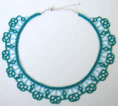 Beading tutorial for this Matteklopper necklace with seed beads only